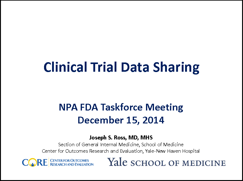 Clinical Trial Data Sharing