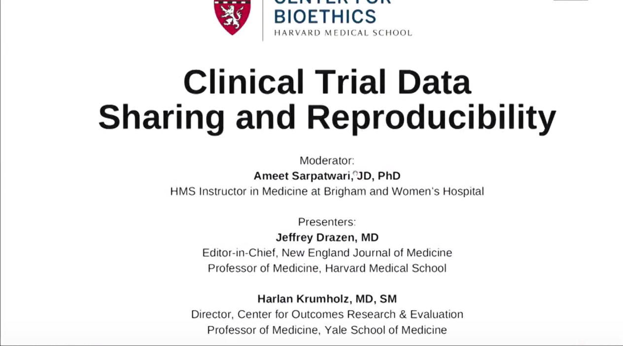 Clinical Trial Data Sharing and Reproducibility