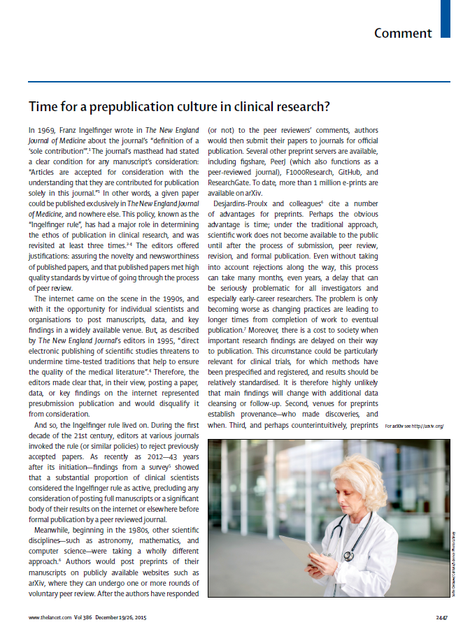 Time for a prepublication culture in clinical research?