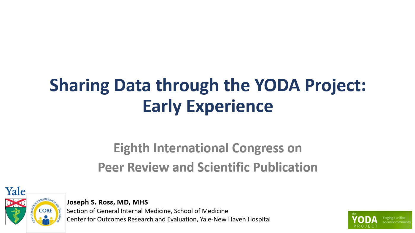 Sharing Data through the YODA Project: Early Experience